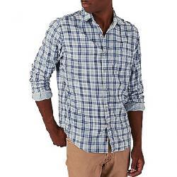 Faherty Men's Doublecloth Venture Shirt Indigo Plaid
