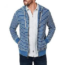 Faherty Men's Indigo Zip Hoodie Vintage Java Stripe