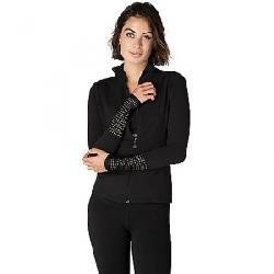 Beyond Yoga Women's Mock Neck Mesh Jacket Jet Black