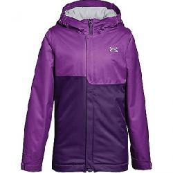 Under Armour Girls' UA Coldgear Infrared Freshies Jacket Purple Rave / Indulge / Overcast Grey