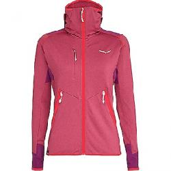 Salewa Women's Agner Hybrid PL/DST Full Zip Hoody Rose Red Melange