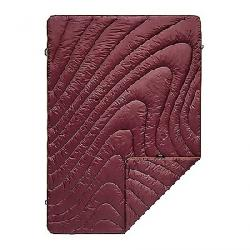 Rumpl Puffy Throw Blanket Wine Red