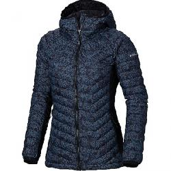 Columbia Women's Powder Pass Hooded Jacket Black Edelweiss Print