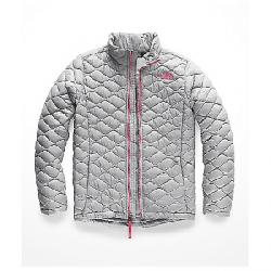 The North Face Kid's ThermoBall Full Zip Jacket Mid Grey / Atomic Pink
