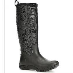 Muck Women's Arctic Adventure Boot Black / Croc Print