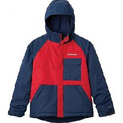 Columbia Youth Boys Casual Slopes Jacket Mountain Red Heather/Coll Navy Heather