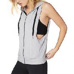 Beyond Yoga Women's Vest Behavior Hoodie Top Light Heather Grey