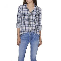 Sanctuary Women's Favorite Boyfriend Shirt Indigo Love Plaid