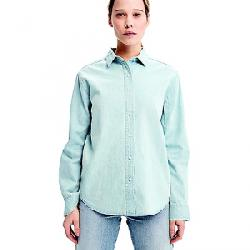Lole Women's Lorimer Denim Shirt Faded Blue Wash Denim