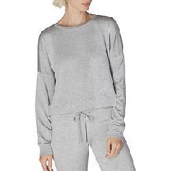 Beyond Yoga Women's Color Streak Cropped Pullover Light Heather Grey