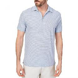 Faherty Men's Isle Polo Dune Stripe Blue