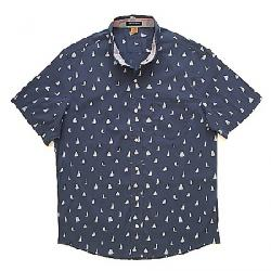 Tailor Vintage Men's Printed Stretch Performance SS Shirt Navy White Sails