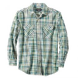 Pendleton Men's Long Sleeve Beach Shack Twill Shirt Green Blue Plaid