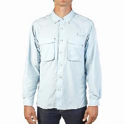 ExOfficio Men's Air Strip Long Sleeve Shirt Air Blue