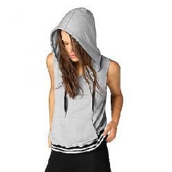 Beyond Yoga Women's Varsity Muscle Hoodie Light Heather Grey