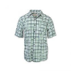 Purnell Men's 4-Way Stretch Quick Dry Plaid Shirt Green Checkered Plaid