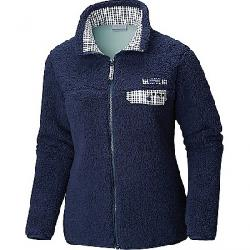 Columbia Women's Harborside Heavy Weight Full Zip Fleece Jacket Coll Navy / Coll Navy Gingham