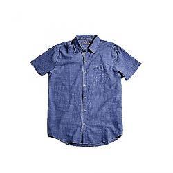 The Normal Brand Men's Slub Cotton Short Sleeve Woven Navy