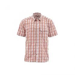 Simms Men's Big Sky SS Shirt Conch Shell Plaid