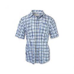 Purnell Men's 4-Way Stretch Quick Dry Plaid Shirt Blue Checkered Plaid