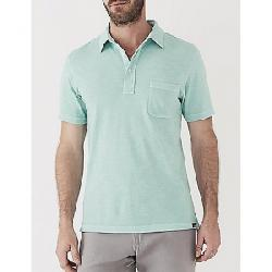 Faherty Sunwashed Polo Shirt Water Blue