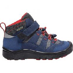Keen Kid's Hikeport Mid Waterproof Shoe Dress Blues / Firey Red