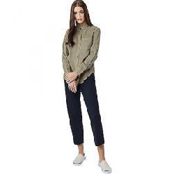 Tentree Women's Fernie LS Button Up Shirt Vetiver Green