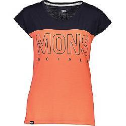 Mons Royale Women's Phoenix Cap Tee Coral / 9 Iron