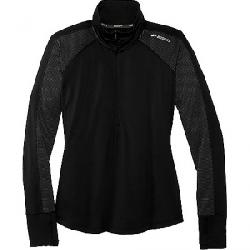 Brooks Women's Dash 1/2 Zip Top Black / Asphalt Stripe