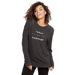 good hYOUman Women's Dave LS Crew Neck Sweater Black Sand / Family / Everything