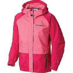Columbia Girls' Splash S'more Rain Jacket Haute Pink / Wild Geranium