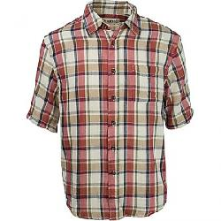Purnell Men's Double Sided Plaid Button Up SS Shirt Red / Contrast Strripe