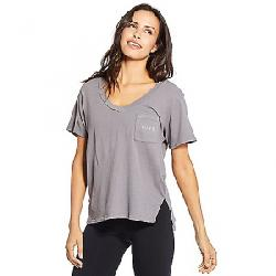 good hYOUman Women's Ivy Vneck Pocket SS Top Charcoal