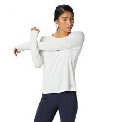 Mountain Hardwear Women's Mighty Stripe LS Tee Fogbank