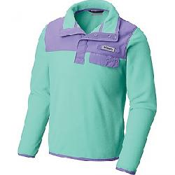 Columbia Youth Harborside Overlay Fleece Top Sea Ice / Paisley Purple