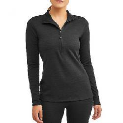 Ozark Trail Women's Wool Blend Half Zip Baselayer Pullover Black