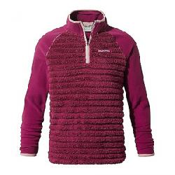 Craghoppers Kid's Maddiston Half Zip Fleece Sweater Azalia Pink