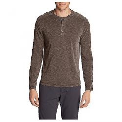 Eddie Bauer Travex Men's Contour Long Sleeve Henley Shirt Deep Mahogany