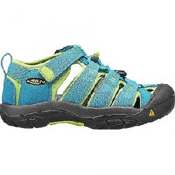 KEEN Kids' Newport H2 Water Sandals with Toe Protection and Quick Dry Hawaiian Blue / Green Glow