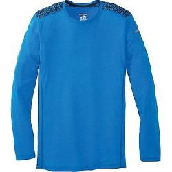 Brooks Men's Distance Long Sleeve Heather Azul/Azul Static