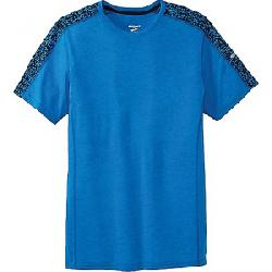 Brooks Men's Distance Short Sleeve Heather Azul/Azul Static