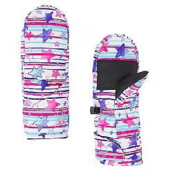 Spyder Girls' Bitsy Cubby Ski Mitten Star Stripe Multi Print / Star Stripe Multi Print