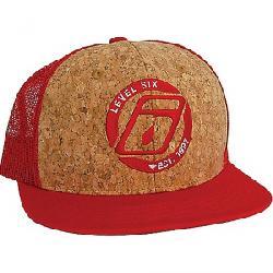 Level Six Corky Mesh Back Trucker Cap Red