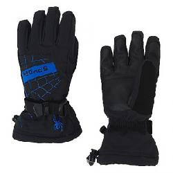 Spyder Boys' Overweb Ski Glove Black / Turkish Sea