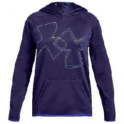 Under Armour Girls' Armour Fleece Dual Logo Hoody Purple / Constellation Purple