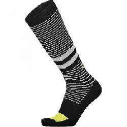 Mons Royale Men's Pro Lite Tech Sock Black / White stripe / Citrus