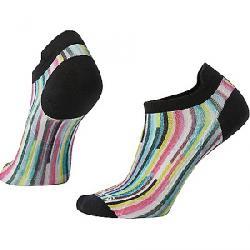 Smartwool Women's PhD Run Ultra Light Print Micro Sock Black Multi