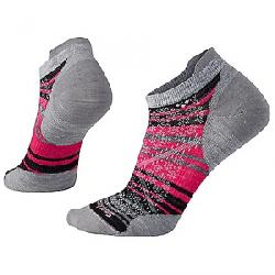 Smartwool Women's PhD Run Ultra Light Striped Micro Sock Light Grey