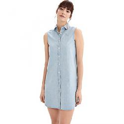 Lole Women's Lorimer Denim Dress Faded Blue Wash Denim