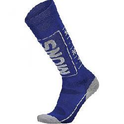 Mons Royale Women's Tech Cushion Sock Grey Marl / Electric Blue